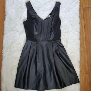 Dynamite black faux leather dress sz S